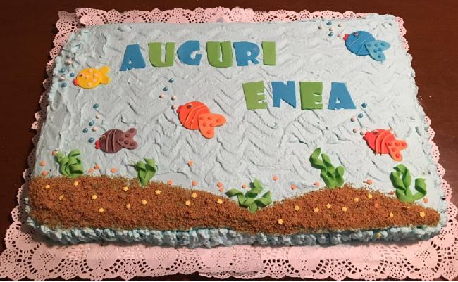 Torta compleanno pesci